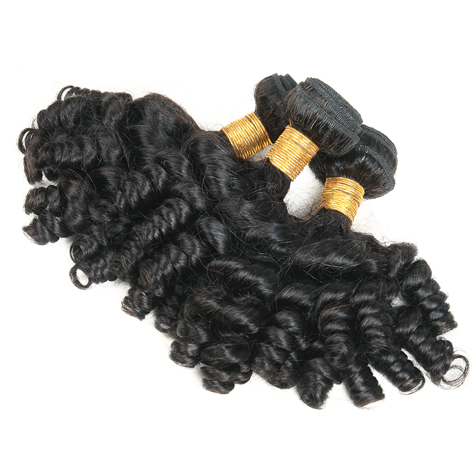 bouncy  curly human hair bundles 1