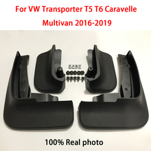 цена на SPEWPRP Mudflap For Volkswagen VW Transporter T5 T6 Caravelle Multivan 2016-2019 Car Fender Mud Guard Splash Flaps Mudguards