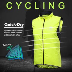 Image 4 - X TIGER Windproof Cycling Vest Rainproof Sleeveless Reflective Safety Vest MTB Bike Jacket Outdoor Sport Quick Dry Rain Jacket
