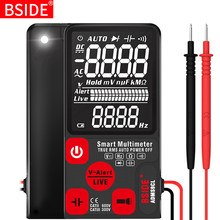 "Multimètre numérique Ultra-Portable BSIDE ADMS7 S9CL grand 3.5 ""LCD 3 lignes voltmètre DMM tension cc ca NCV Ohm Hz testeur(China)"