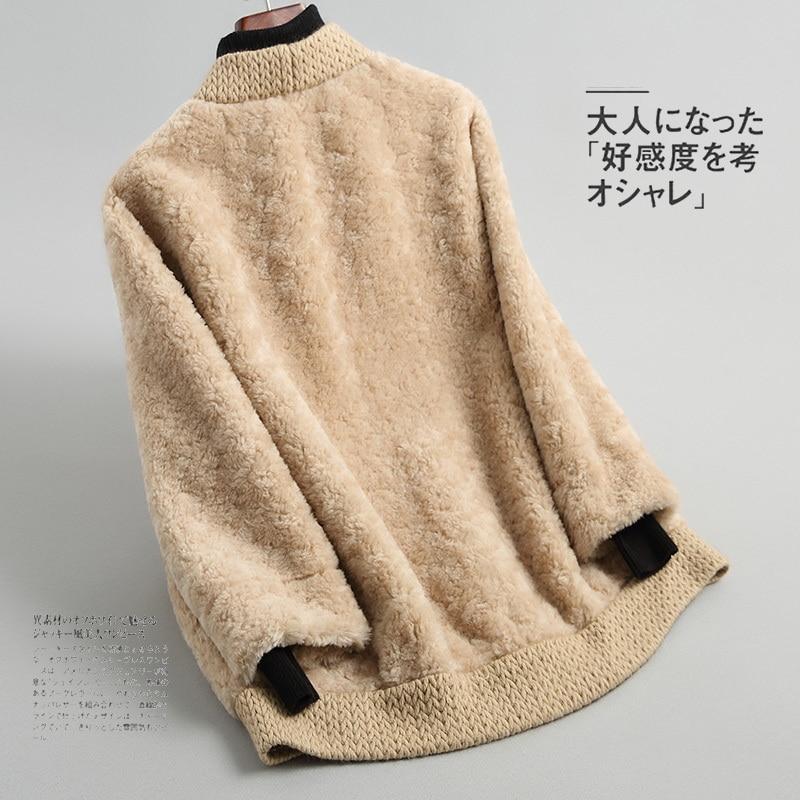 Coat Fur Real Women Clothes 2020 Autumn Winter 100% Wool Jacket Korean Ladies Fur Coats Abrigo Mujer Y089 KJ2635 S