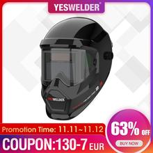 YESWELDER Anti Fog Up True Color Welding Helmet Solar Powered automatic welding mask with Side View for TIG MIG ARC LYG S400S
