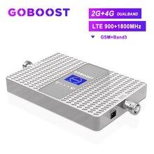 Amplificador celular 4g g gsm 2g impulsionador 4g lte 1800 gsm 900 2g impulsionador de sinal móvel band3 70db