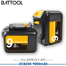 Rechargeable For DCB200 9.0Ah 18V 20V Li-ion Battery For Dewalt DCB200 DCB180 DCB181 DCB182 DCB201 DCB204-2 Power Tools Battery high quality 20v 4000mah power tools batteries for dewalt dcb181 dcb182 dcd780 dcd785 dcd795 charger usb power source