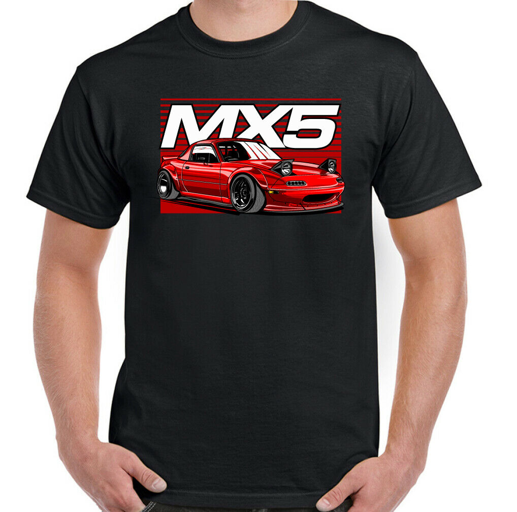 MENS MAZDA MX5 T-SHIRT CAR ENGINE PARTS UNISEX & ALL SIZE
