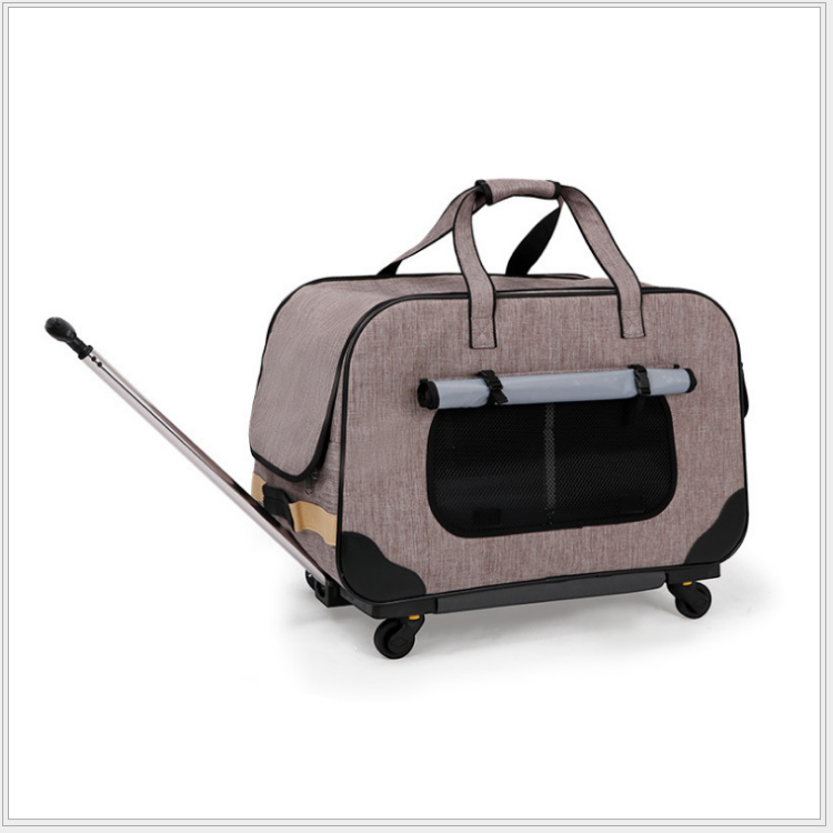 M8 Pet Trolley Folding Four wheeled Dog Trolley Box Cat Suitcase Bag Breathable Closed Lever Panoramic Super Breathable