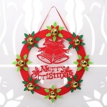 1 piezas decoraciones de Navidad 30CM no tejida Corona de Navidad puerta colgando Hotel árbol de Navidad corona adornos
