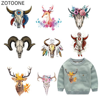 ZOTOONE Iron on Transfers Patch for Clothes Bag Animal Patches Cute Bull Head Sticker for Kids Applications DIY Appliques G iron on cartoon anime patches for kids animal patch for clothing bag cute bat hero bear stickers diy heat transfers appliques h