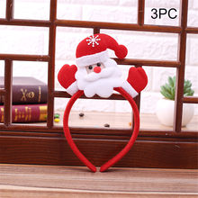 2PCS Hot Christmas Headband Santa Xmas Party Decor Double Hair Band Clasp Head Hoop 2020 for Children Christmas Gif Head Hoop(China)