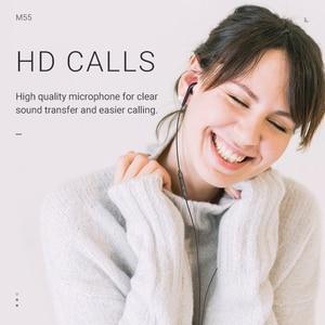 Image 2 - hoco earphone headset 3.5mm wire in ear earphone with microphone for xiaomi samsung hifi earphones with mic mini ear phone 3.5