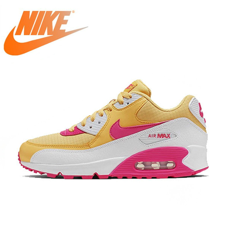 Original Authentic NIKE AIR MAX 90 ESSENTIAL Women's Running Shoes Outdoor Sneakers Comfortable New Color Matching New 325213