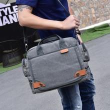 Top Designer  Men Laptop Bag Large Capacity Briefcase Bag Canvas Office Handbag Document Case Totes Shoulder Bag