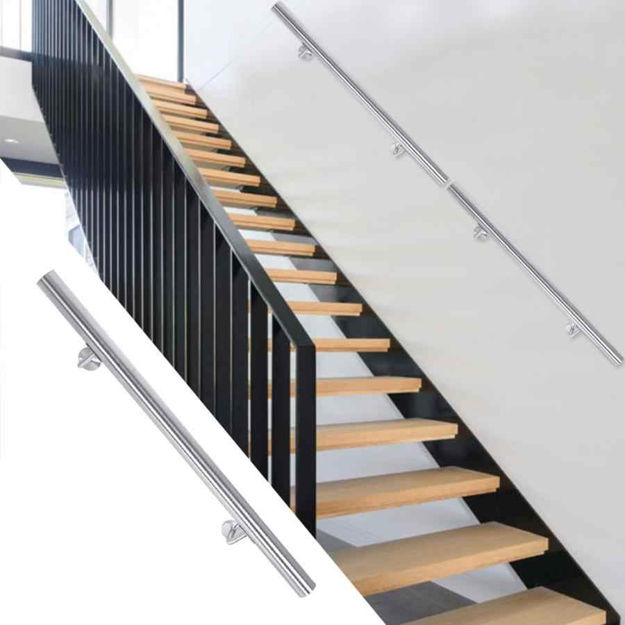 80Cm 100Cm Stainless Steel Handrail Grab Rail Home Balcony | Safety Handrails For Stairs | Wood Outdoor Hand | Baby Proofing | Wall | Rake | Front