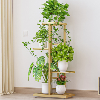 4 Tier 5 Potted Plant Stand Multiple Flower Pot Holder Shelves Planter Rack Storage Organizer Display for Indoor Garden Balcony 3