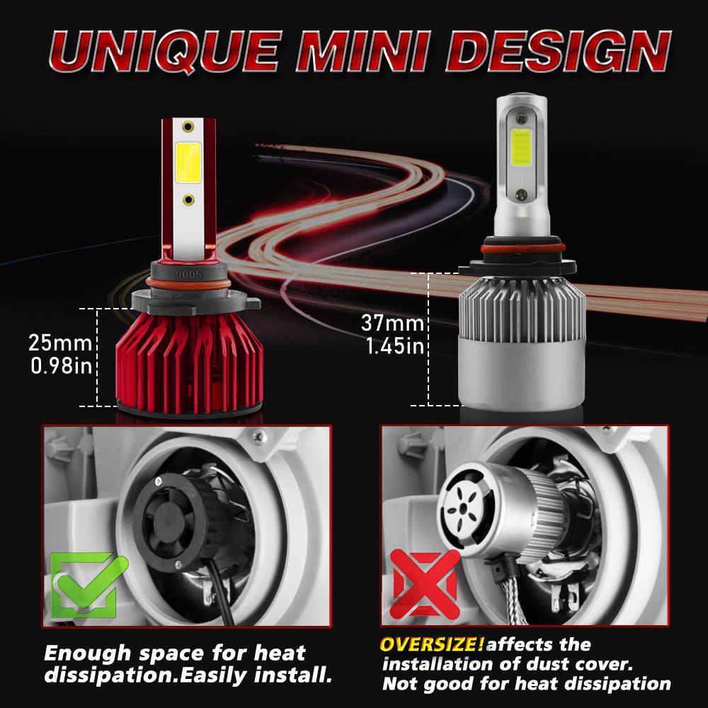 72W фары для автомобиля фар H7 светодиодный H4 8000LM H1 H11 9005 HB4 9012 светодиодный лампы 6000 К авто фары 12V 24V противотуманная фара