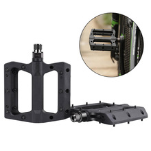 1 Pair Bike Pedal Portable Mountain Bicycle Pedals Nylon Road Bearing 12.5*10*2cm Outdoor Cycling