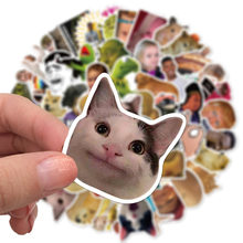 10/30/50pcs Funny Cat Meme Stickers Laptop Skateboards Luggage Motorcycles Phone Children's Toy Waterproof Sticker Classic Decal