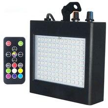 Супер яркий RGB Стробоскоп светильник 25 Вт 108 SMD5050 Светодиодная лампа для сценических эффектов светильник с автоматическим звуком активированный вечерние DJ Дискотека вечерние KTV сценический светильник s