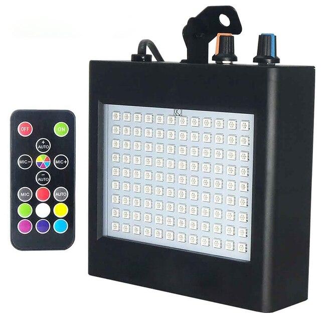 Super   Bright RGB Strobe แสง 25 W 108 SMD5050 LED Stage Effect light อัตโนมัติเสียงเปิดใช้งาน Party DJ Disco ปาร์ตี้ KTV Stage ไฟ