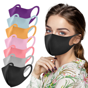7pc Adult Ice Silk Mouth Masks For Women Men Face Cover Washable Reusable Mouth-muffle Breathable Mascarilla facial Masque Lot