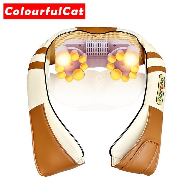 4D Electrical Shiatsu kneading Massage Body Neck and Back Massager Infrared Car Home Best Gift Health Care Massageador Massagem 2