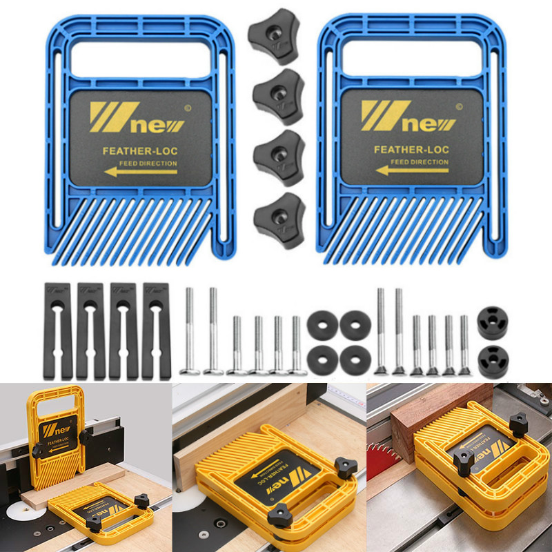 Extended Feather Loc Board Set Double Featherboards Miter Gauge Slot Woodworking Tools For Engraving Machine Circular Saw Table