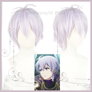 Anime Game IDOLiSH7 Wig Osaka Sogo Cosplay Hair Light Purple Short Synthetic Heat Resistant Wig Comiket Role Play Adult(China)