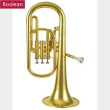 Верхний бас B плоский вертикальный ключ тройной ключ профессиональный большой держатель рупорный латунный туба