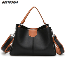 цены BESTFORM Luxury Handbags Women Bags Designer High Quality Leather Crossbody Women Bags Casual Tote Female Bags Fashion Handbag