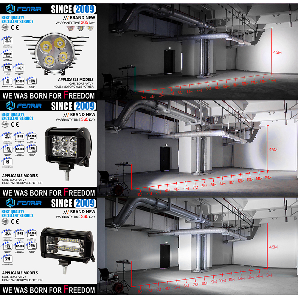 LED Lamps for Cars Projector Auto Light Extra Lights High Beam Headlights Daytime Running Lights Quad Bike Work Light LED Bar in Light Bar Work Light from Automobiles Motorcycles