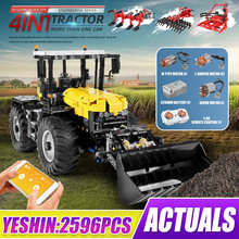 Building-Blocks Truck Tractor Loader Farming Mouldking Electric-Toys Harrow Grassland