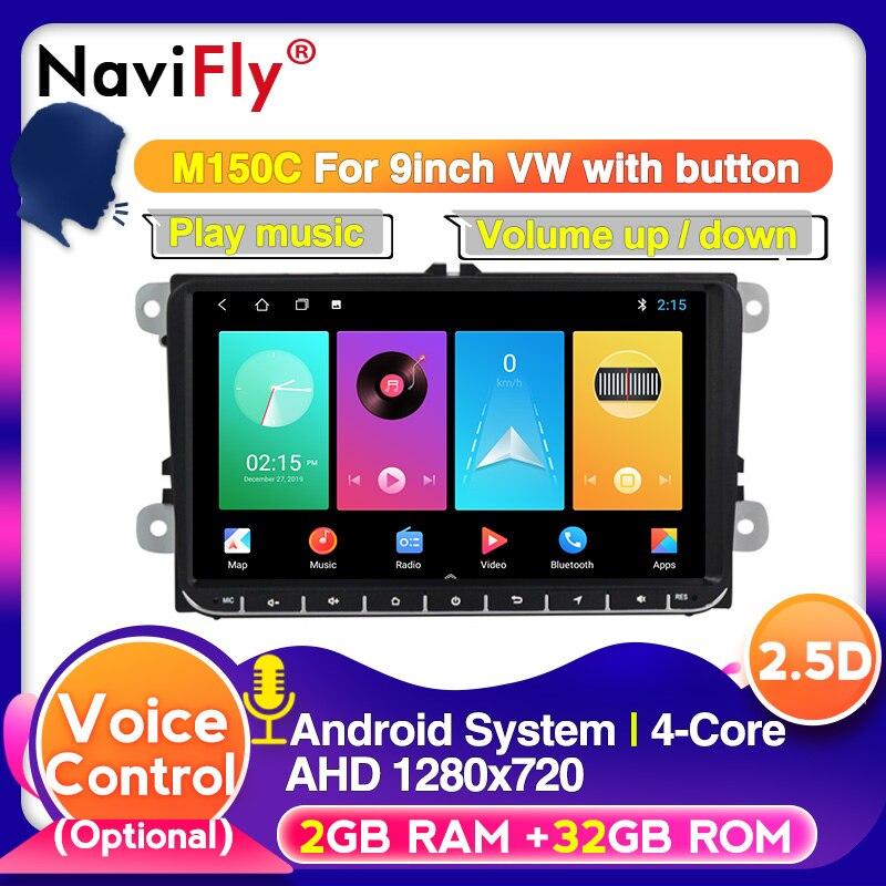 Navifly Android 10 2Din автомобильный Радио Стерео GPS плеер для Skoda Seat Volkswagen B6 B7 Passat golf Polo Passat CC автомобильный мультимедийный Мультимедиаплеер для авто      АлиЭкспресс