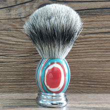 Men Shaving Brush Color Stripes 24mm Knot Resin Round Handle Beard Brushes Barber Accessories
