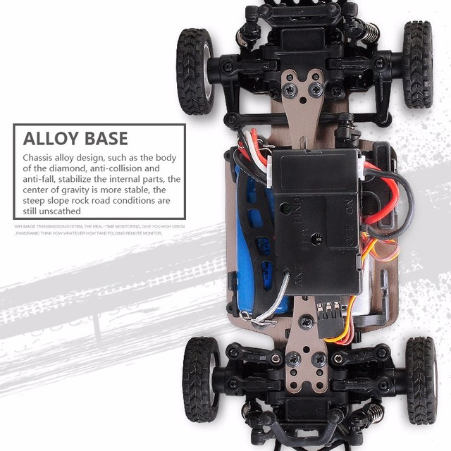 K999 rc car 1:28 off-road vehicle 2.4G electric four-wheel drive remote control car black gold chassis speed 30km RC off-road 3