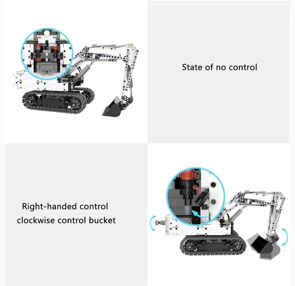 Xiaomi MITU Engineering Excavator Building Blocks Toy Kids Gift Crawler Simulation console Mechanical transmission 900+ parts (5)
