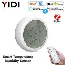 Tuya Smart ZigBee Temperature Sensor Humidity Meter Detector Monitor, Smart Life APP Thermometer Hygrometer, Alexa Google Home