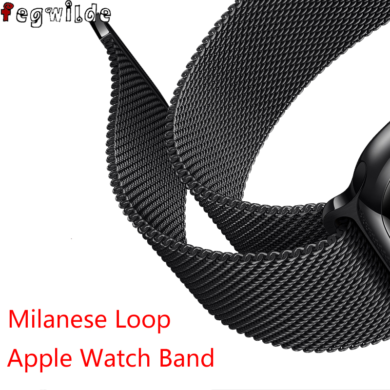 Milanese Loop Strap For Apple Watch Band 44 Mm 38mm IWatch Band 42mm 38mm Stainless Steel Watchband Bracelet Apple Watch 5 4 3
