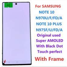 Samsung note10 n970 note10 artı n975 note10 + lcd dokunmatik ekran ekran meclisi orijinal süper AMOLED ekran dokunmatik ekran