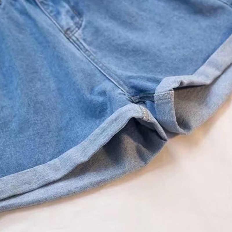 Túi Nút Nữ Quần Short Denim Plus Kích Thước 5XL Đen Hậu Cung Ren Váy Mùa Hè Cao Cấp Thun Hot Đáy Nữ