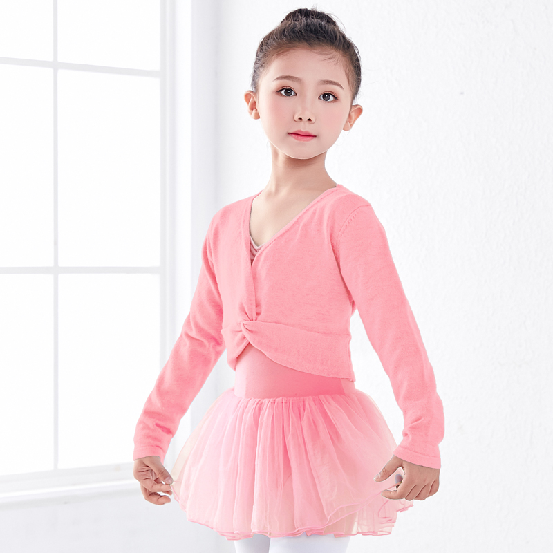 New Arrivals Girls Ballet Sweater Wrap Children Kids Tops Gymnastic Leotard Sweater Long Sleeve Dance Ballet