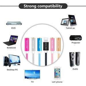 Image 3 - Mais novo aux cabo de áudio voxlink 8pin para 3.5mm aux fone de ouvido jack adaptador cabo para apple iphone x 8 plus 7/7 plus