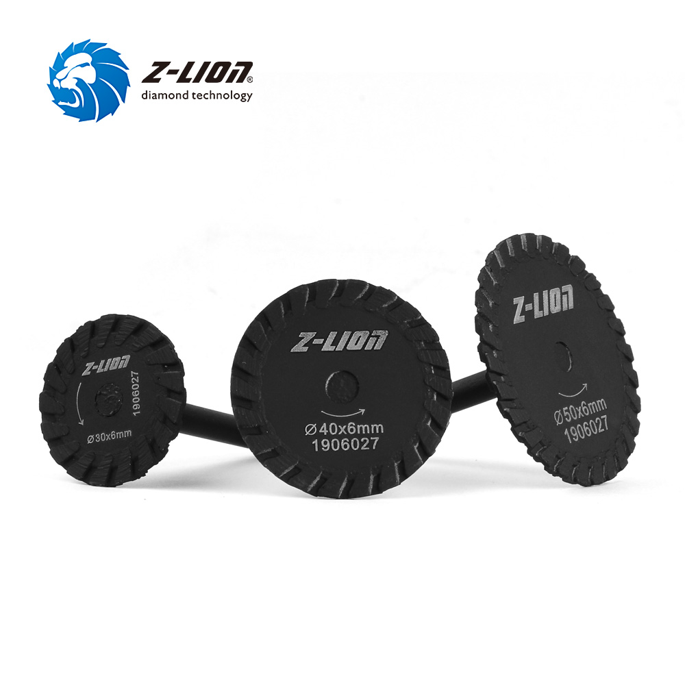 Z-LION 30/40/50mm Diamond Mini Turbo Saw Blade With 6mm Shank Wet Use Carving Cutting Disc For Granite Marble Stone Engraving