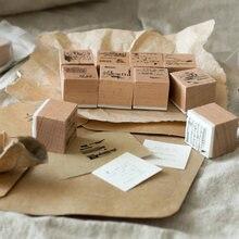 Чудесные жизни деревянные и резиновые штампы кончик пальца соленое