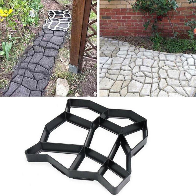 DIY Paving Mould Ement Brick Concrete Molds Home Garden Floor Road Decor Plastic Reusable Path Maker Mold Tool