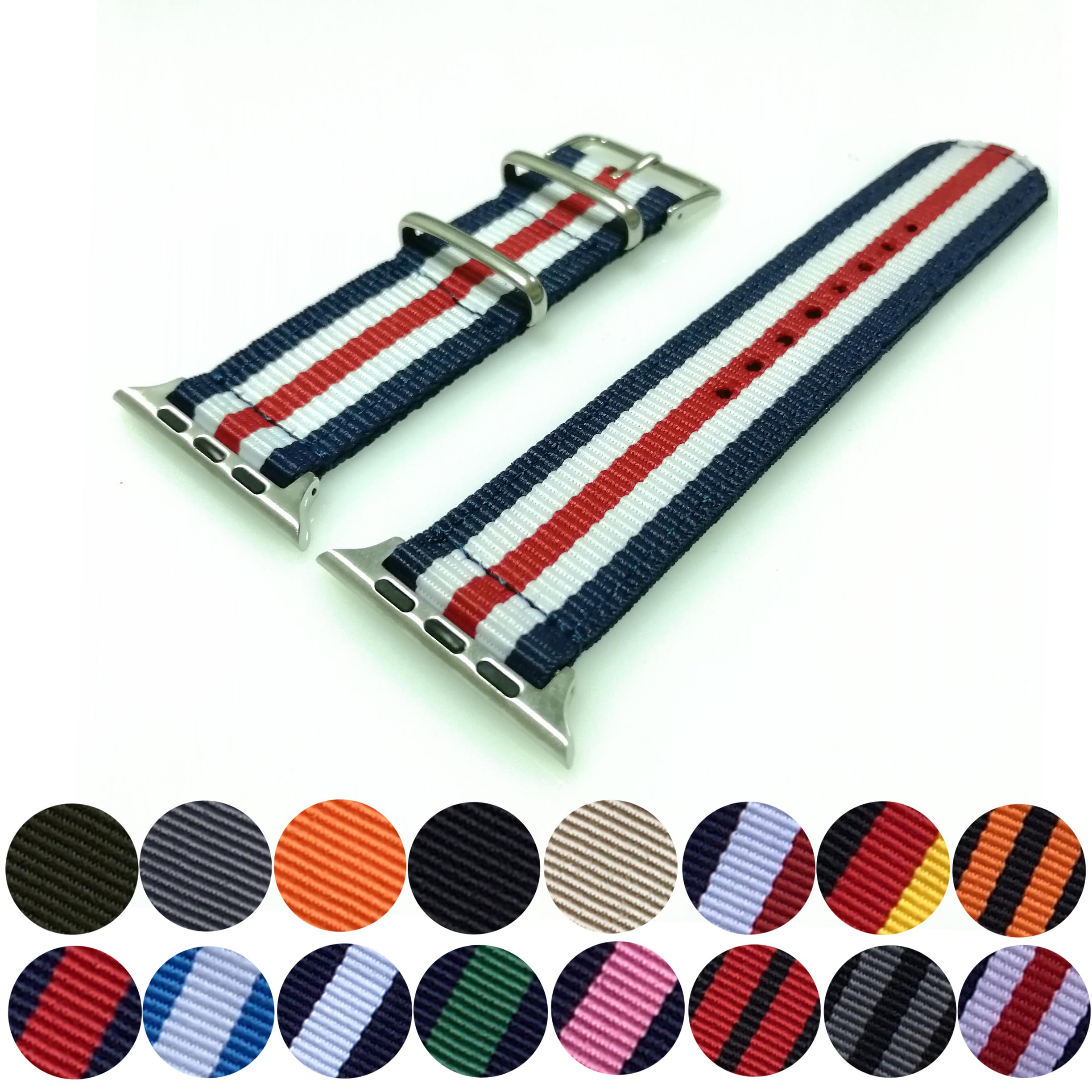 Watch Band For Apple Watch 38mm 40mm Nato Nylon Watchband For IWatch 5 4 3 2 1 Watch Strap 42mm 44mm Wrist Bracelet