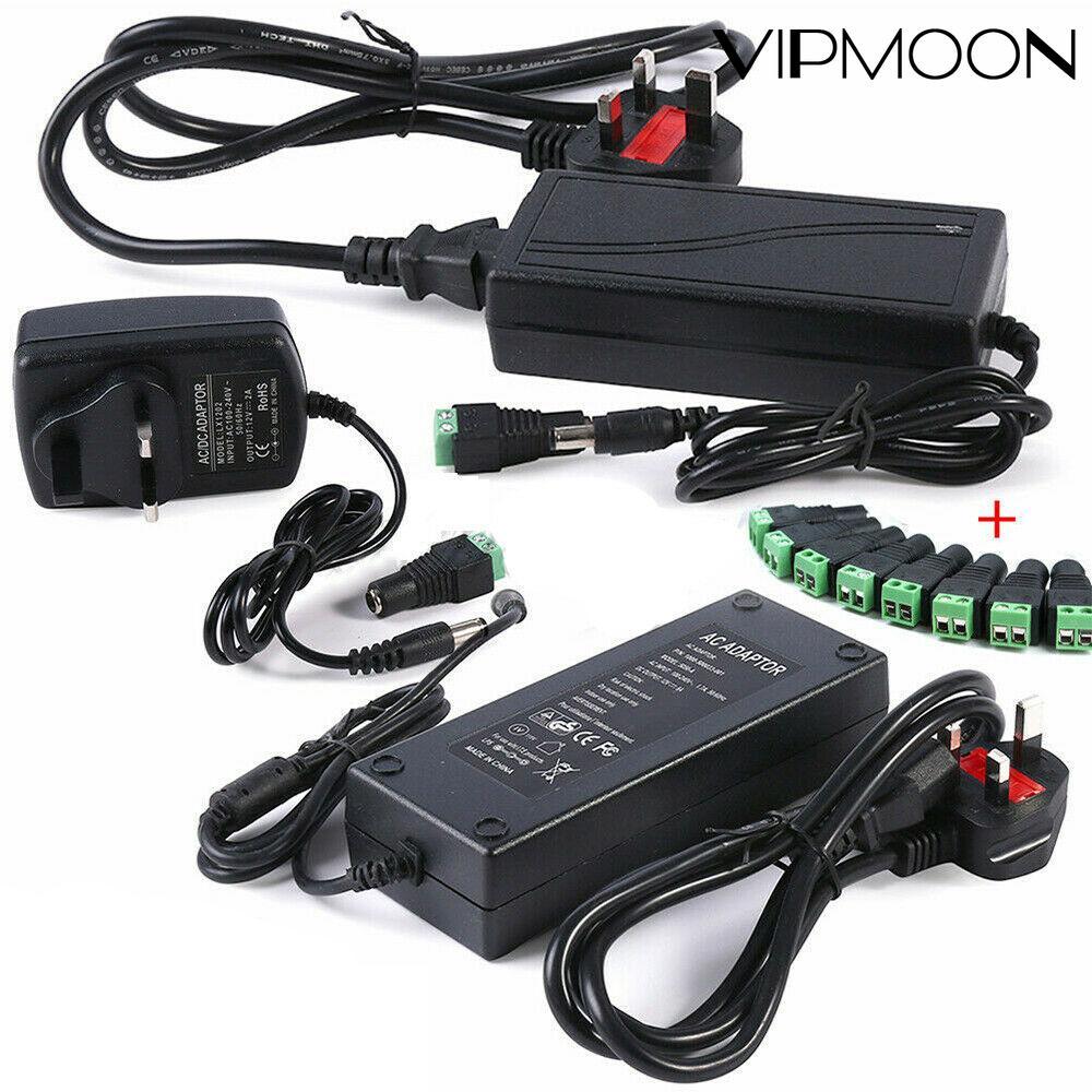 AC 100-240V DC 5V 12 V 1A 2A 3A 5A 6A 8A 10A адаптер Питание 12 вольт Зарядное устройство для светодиодный полоски светильник с Гнездовой разъем