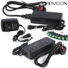 Ac 100-240v dc 5v 12 v 1a 3a 5a 6a 8a 10a adaptador fonte de alimentação carregador de 12 volts para tiras led luz com conector fêmea
