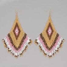 Go2boho Green Earrings For Women MIYUKI Earrings Femme Aretes Boho Jewelry Handmade Pendientes Mujer Moda 2021 Handmade Beads