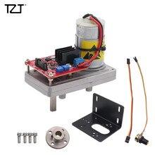 TZT 100kg/380kg/cm High Torque Servo Kit Steel Gear DC12V 24V with Potentiometer For Mechanical Arm Robot