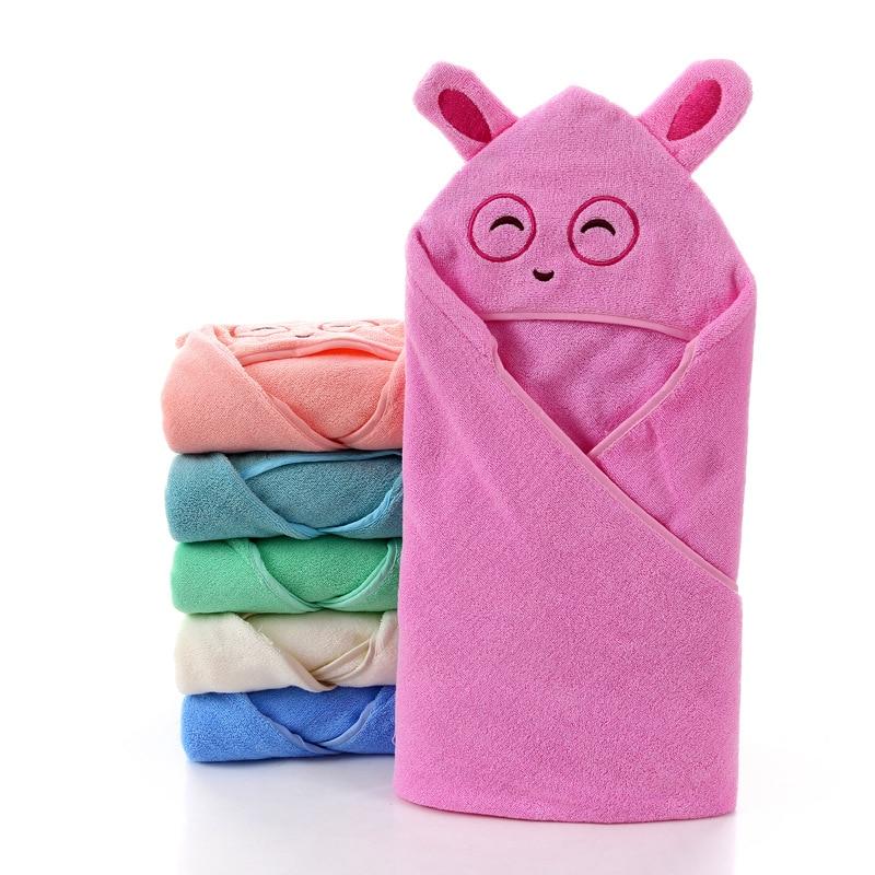 Pure Cotton Infant Hooded Cloak Bath Towel Baby Blanket Baby Children's Quilt Blanket-